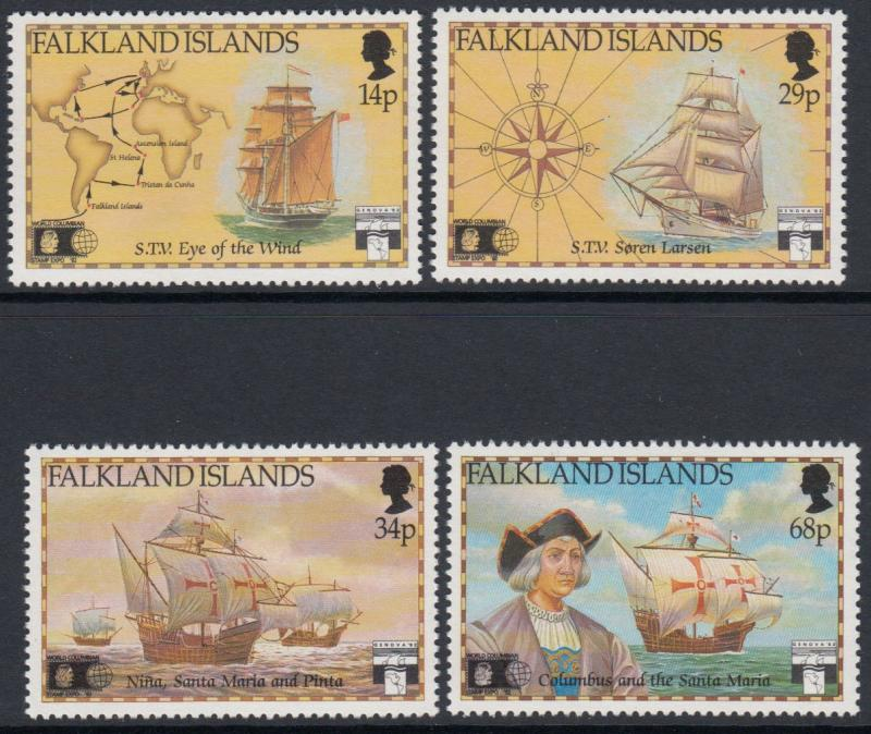 Falkland Islands - 1991 500th Anniv of Discovery of America (MNH)