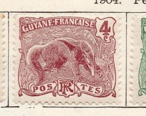French Guiana 1904 Early Issue Fine Mint Hinged 4c. 135924