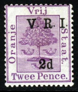 ORANGE FREE STATE 1900 2d. Surcharged 2d. Mauve RAISED STOPS THICK V SG 125 MINT