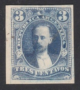 ARGENTINA - Plate proof on thick card.......................................D685