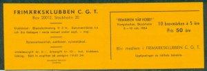 SWEDEN 1954 C.G.T. Booklet of 10, NH, VF