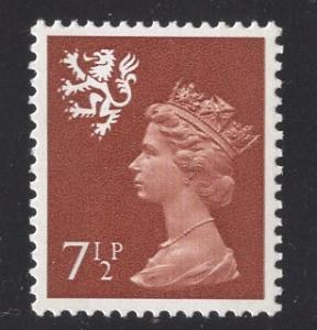 Great Britain Scotland  #SMH9  7 1/2p   MNH Q E II   Machin