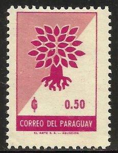 Paraguay 1961 Scott# 621 MH
