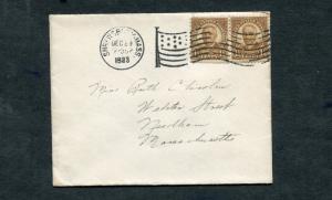 Postal History - Shrewsbury MA 1933 Black American Flag AMF-A14 Cancel B0360