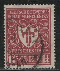 Germany Reich Scott # 212a, used, exp h/s
