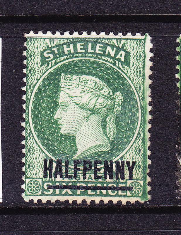 ST HELENA  1884-94  1/2d  GREEN  QV  MLH SG 35