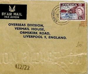 Jamaica Cover Superb *Llandewey* Air Mail Liverpool {samwells-covers} 1959 CS19