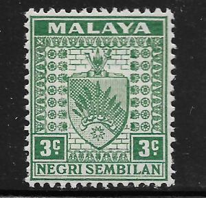 MALAYA -NEGRI SEMBILAN, 22B, MNH, COAT OF ARMS
