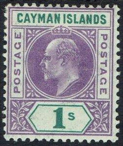 CAYMAN ISLANDS 1907 KEVII 1/- WMK MULTI CROWN CA
