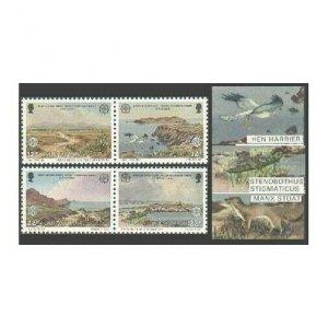 Isle of Man 306-307 ab,MNH.Michel 307-310. EUROPE CEPT-1986.Manx Trust:Animals,