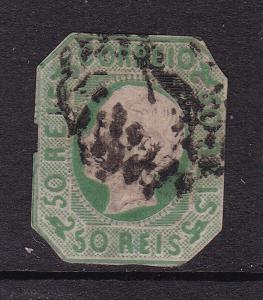 Portugal 50 Reis Stationary Cutout VFU VGC