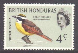 Br Honduras Scott 170 - SG205, 1962 Birds 4c MNH**