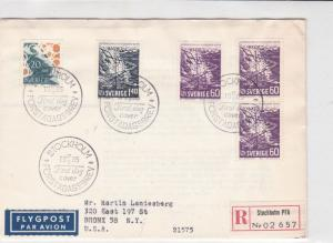 sweden 1965 stamps cover ref 19557