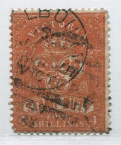 Victoria 1879 4/ revenue Stamp Duty used
