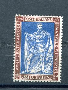 Italy  #201a Mint VF NH cat $500 - Lakeshore Philatelics