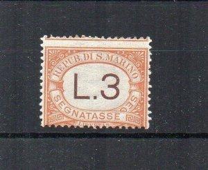 San Marino 1925-39 3l Postage Due MLH