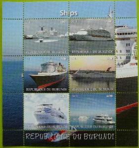 Burundi MNH S/S Ships 2011