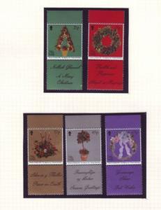 Isle of Man Sc 935-9 2001 Christmas stamp set NH