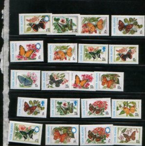 Cook Islands 1997 butterflies insects set 20v MNH