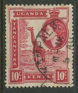 Kenya & Uganda - Scott 104 - QEII Definitive -1954 - Used - Single 10c Stamp