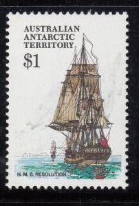 Australian Antarctic Territory 1974-81 MNH Scott #L52 $1 H.M.S. Resolution - ...