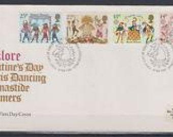 lot of 5 GREAT BRITAIN official FDC FOLKLORE #933-936
