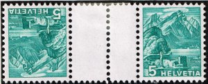 Switzerland Stamp tête-bêche gutter pair SELVAGE H/STAMPS MNH LOT #1