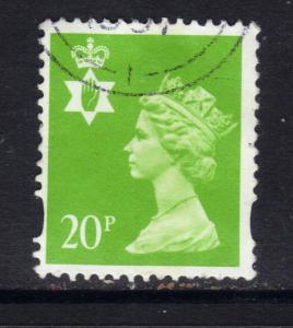 Northern Ireland GB 1993 - 2000 QE2 20p Bright Green Machin SG NI 71 ( D963 )