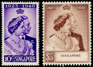 SINGAPORE SG31-32, COMPELTE SET, M MINT. Cat £110. RSW