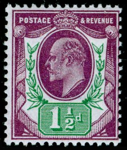 SG289 SPEC M10(7), 1½d slate-purple & green (F), LH MINT. Cat £30.