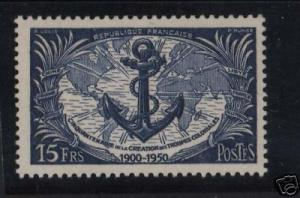 France #647 Mint Reentry Lines In Continent Variety