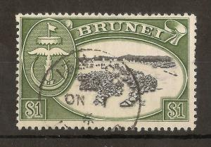 Brunei 1952 $1 Water Village SG111 Fine Used