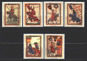 Paraguay. 1984. 3738-43 from the series. Middle Ages, knights, weapons. MNH.