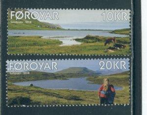 Faroe Islands 699-700  MNH