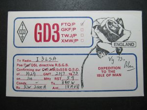 5628 Amateur Radio QSL Card Dxpedition to the Isle of Man