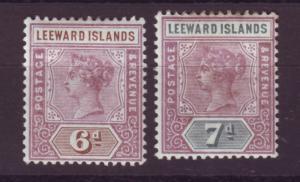J16713 JLstamps 1890 leeward islands mh #5-6 queen signed on reverses