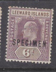 LEEWARD ISLANDS, 1902 KEVII, CA, 6d. Purple & Brown SPECIMEN, lhm.
