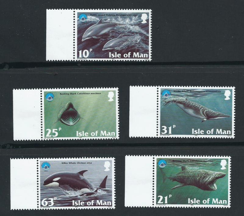 Isle of Man MUH SG 798 - 802      Margin copy