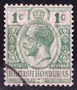BRITISH HONDURAS 1915 KGV 1 Cent Green SG111 Fine Used