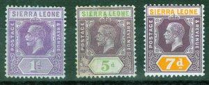 Stamps Sierra Leone,1921, unused
