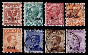 1912-24 ITALY - RHODES #1-3 & 5-9 - NEW & USED - FINE+ - CV$31.25 (ESP#1555)