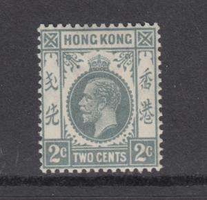 Hong Kong Sc 131 MNH. 1937 2c gray KGV, lt gum bend, F-VF