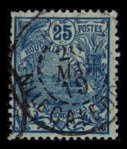 NOUVELLE CALEDONIE 1905 VINTAGE 25c BLUE #98 FINE USED CDS (V565)