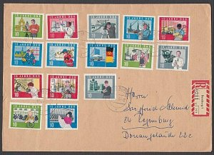 EAST GERMANY 1965 Registered cover - great franking.........................B362