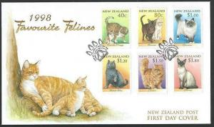 NEW ZEALAND 1998 CATS commem FDC...........................................60638
