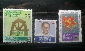 Sri Lanka #541-543 MNH e196.4463