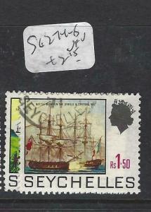 SEYCHELLES  (P3005B)  QEII    SG 274-5  VFU