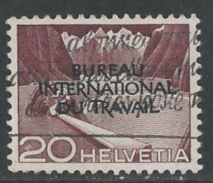 Switzerland-ILO # 3O86  UN Agency - I.L.O.   20c  (1) VF Used