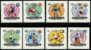 MONGOLIA Sc#1242-1249 1982 World Cup Soccer Complete Set OG Mint NH