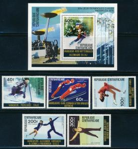 Central Africa - Innsbruck Olympic Games MNH Set (1976)
